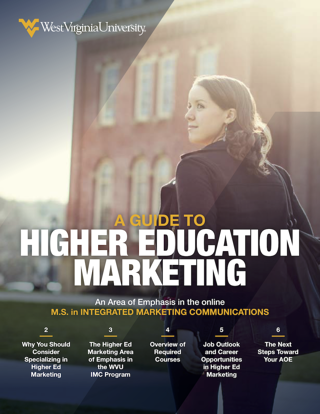 a guide to specializing in higher education marketing