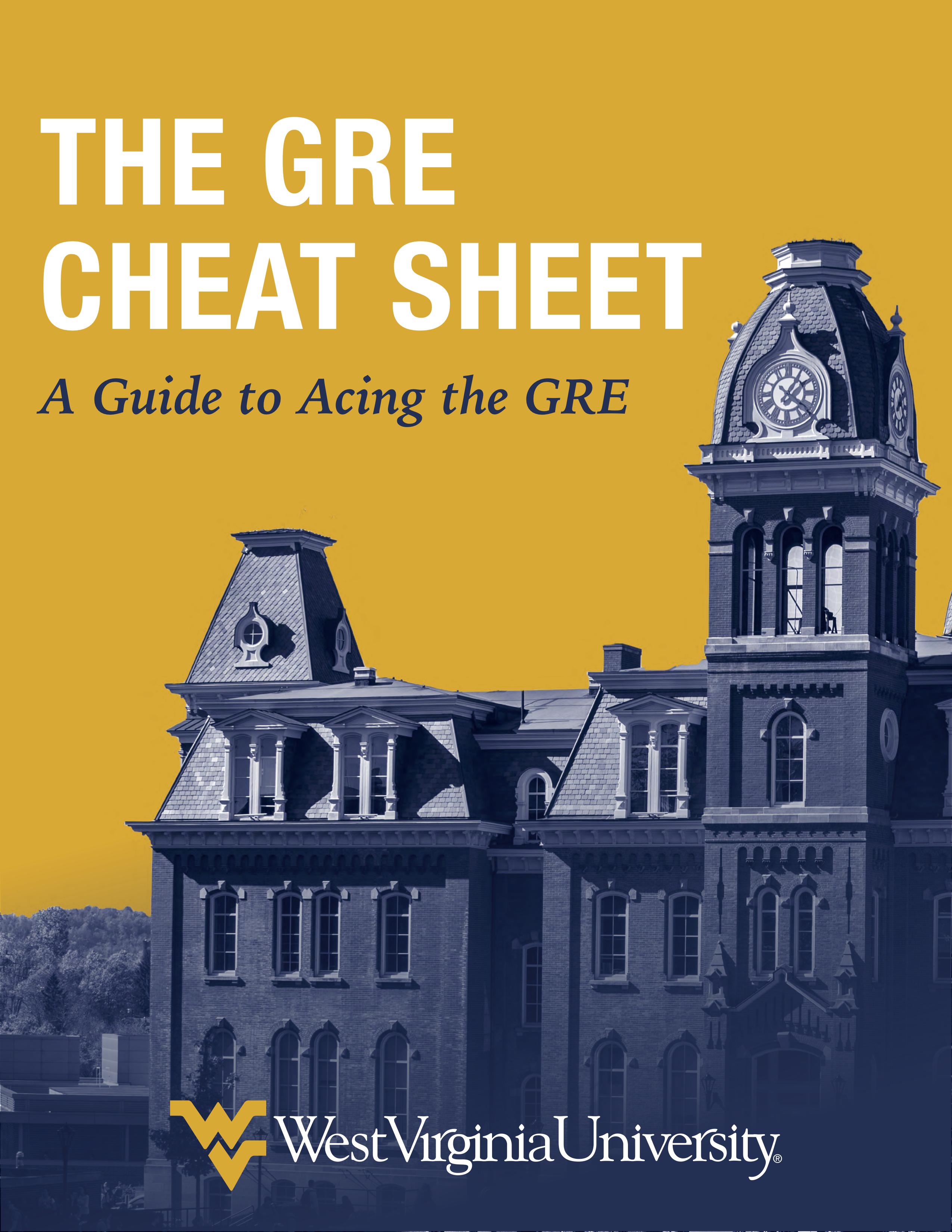 WVU GRE Cheat Sheet REVAMP 2.0 p1